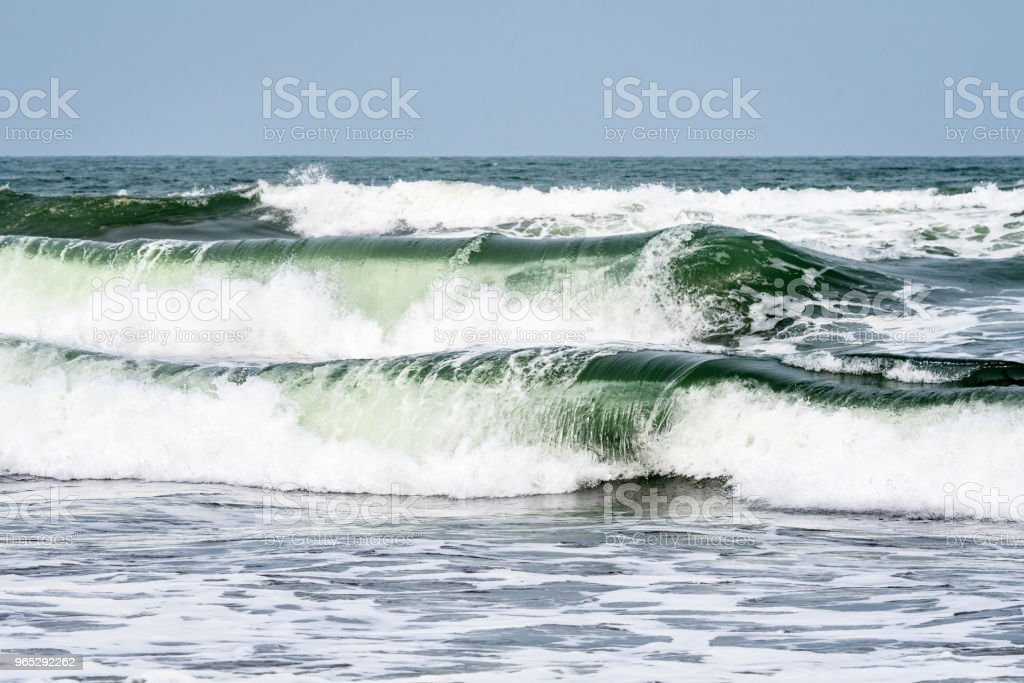 Beach and waves royalty-free stock photo