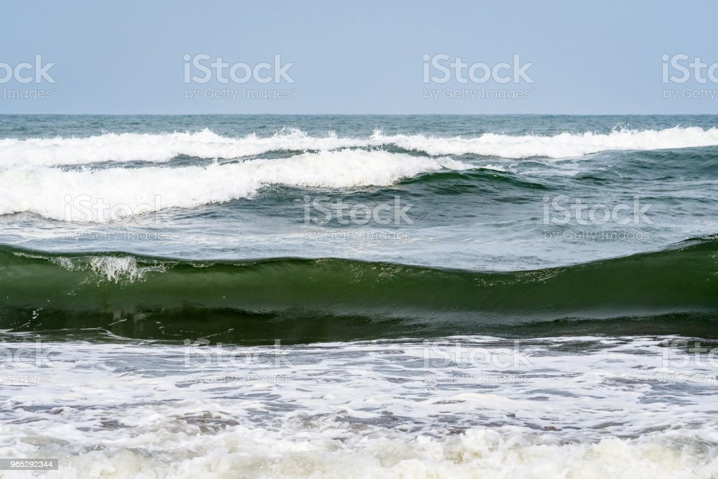 Beach and waves zbiór zdjęć royalty-free