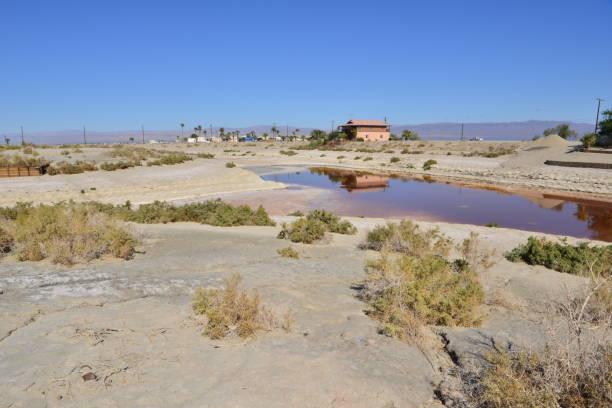Strandgebiet des Salton-Meeres in Kalifornien – Foto
