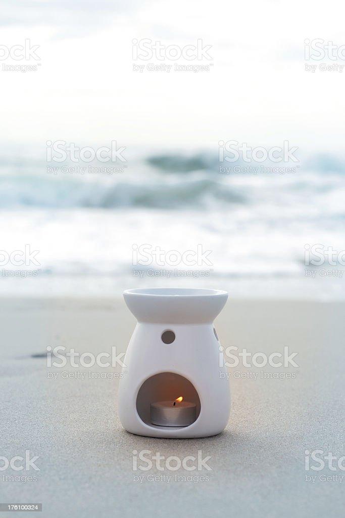 Beach aromatherapy royalty-free stock photo