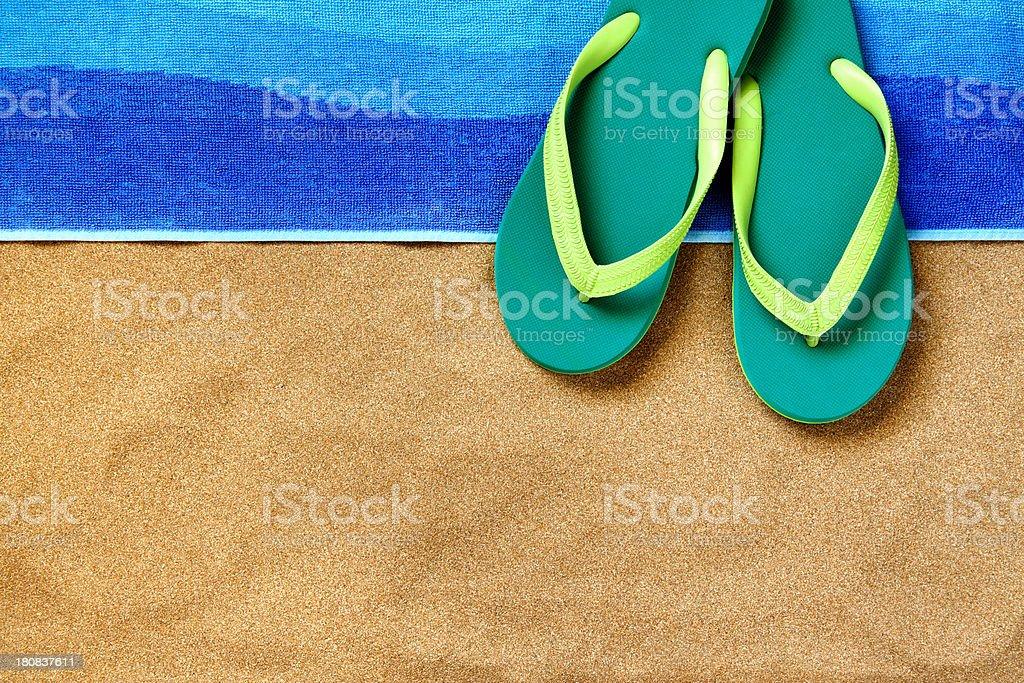 Beach arrangement stock photo