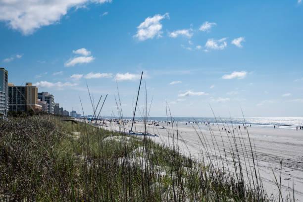 Beach at 66th. Avenue North Myrtle Beach stock photo