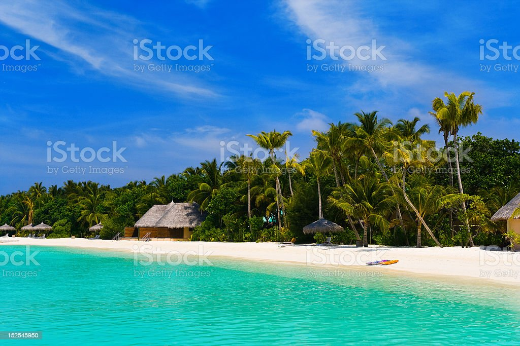 Beach at a tropical island royalty-free stock photo