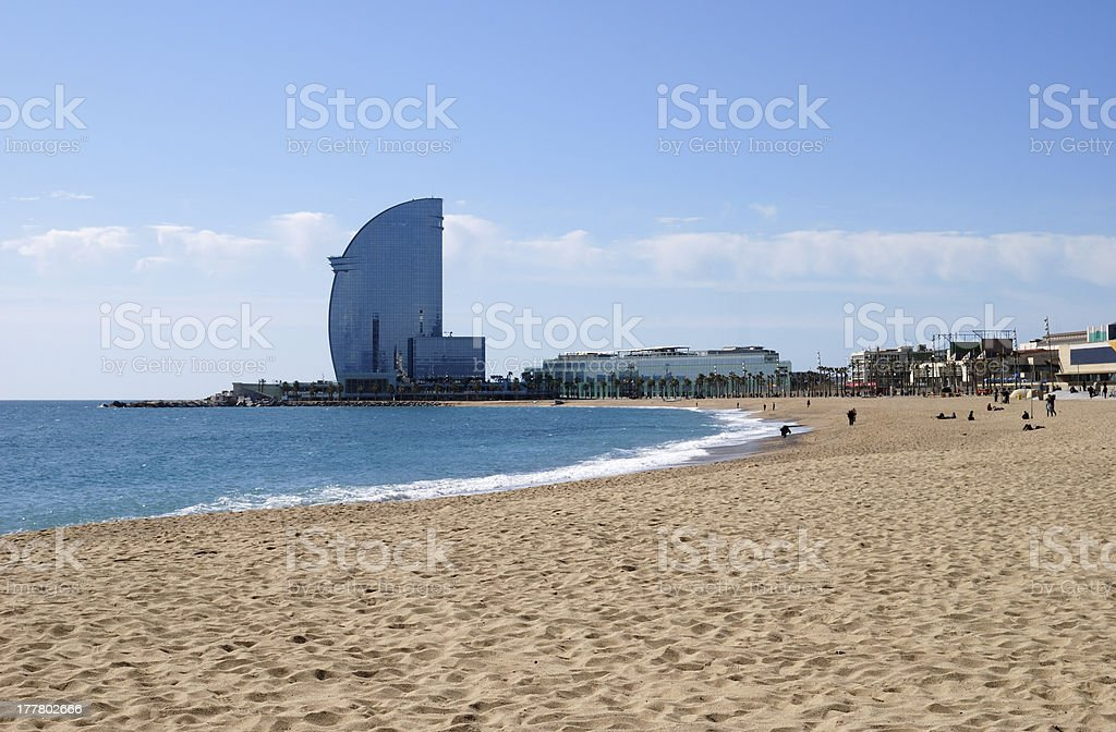 Beach at Barcelona. Spain stock photo
