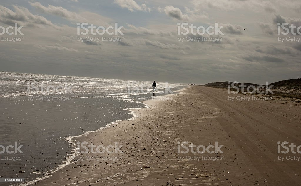 Beach at Boca Chica State Park Near Brownsville, Texas stock photo