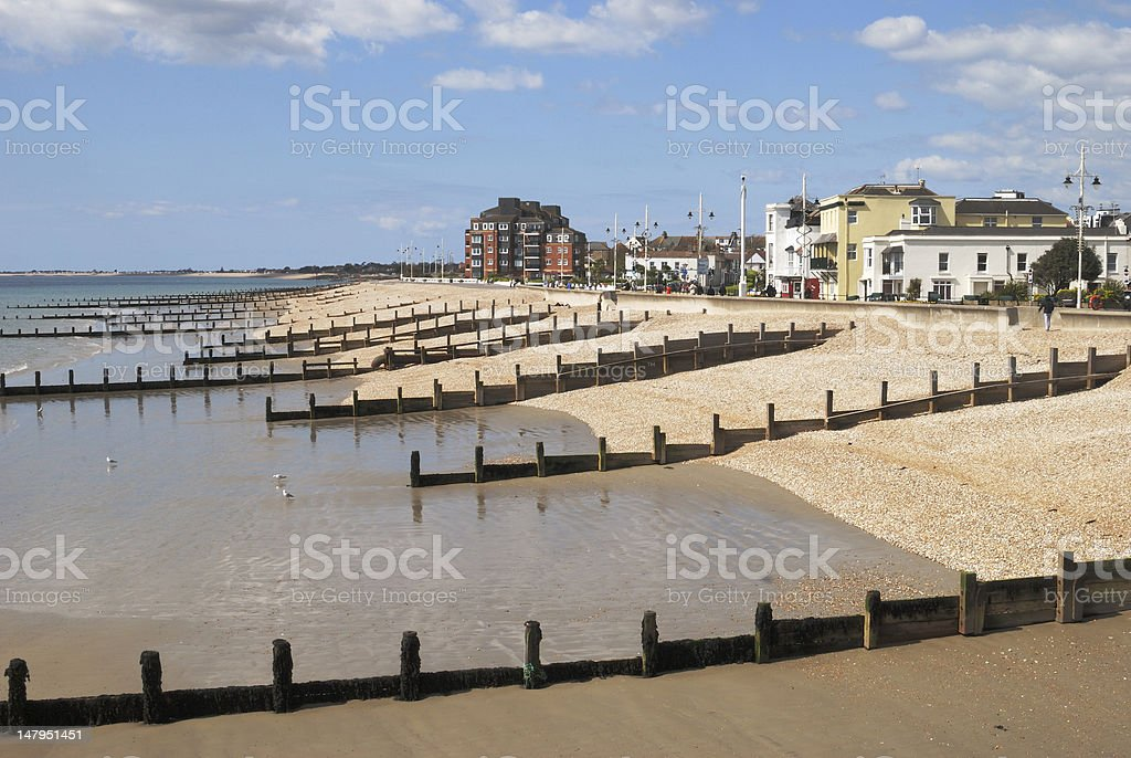Beach at Bognor Regis. Sussex. England royalty-free stock photo