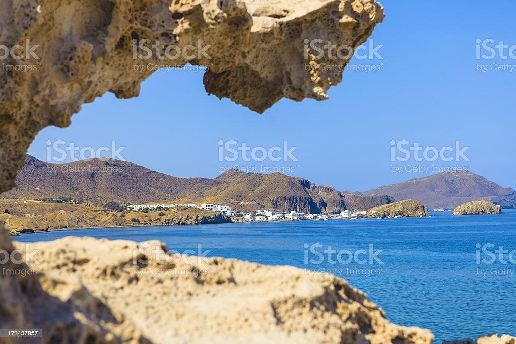 Beach at Cabo de Gata, Spain stock photo