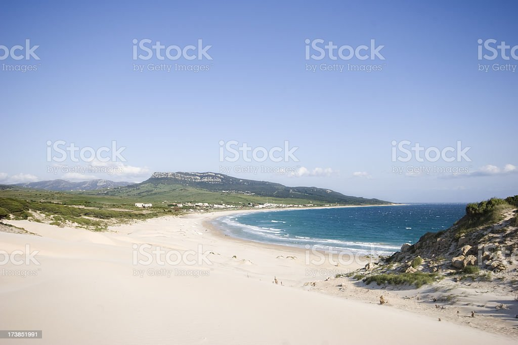 Beach at Cadiz stock photo