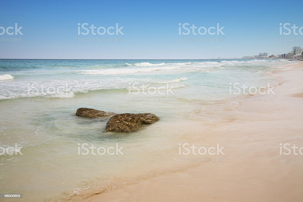 beach at Cancun, Mexico royalty-free stock photo