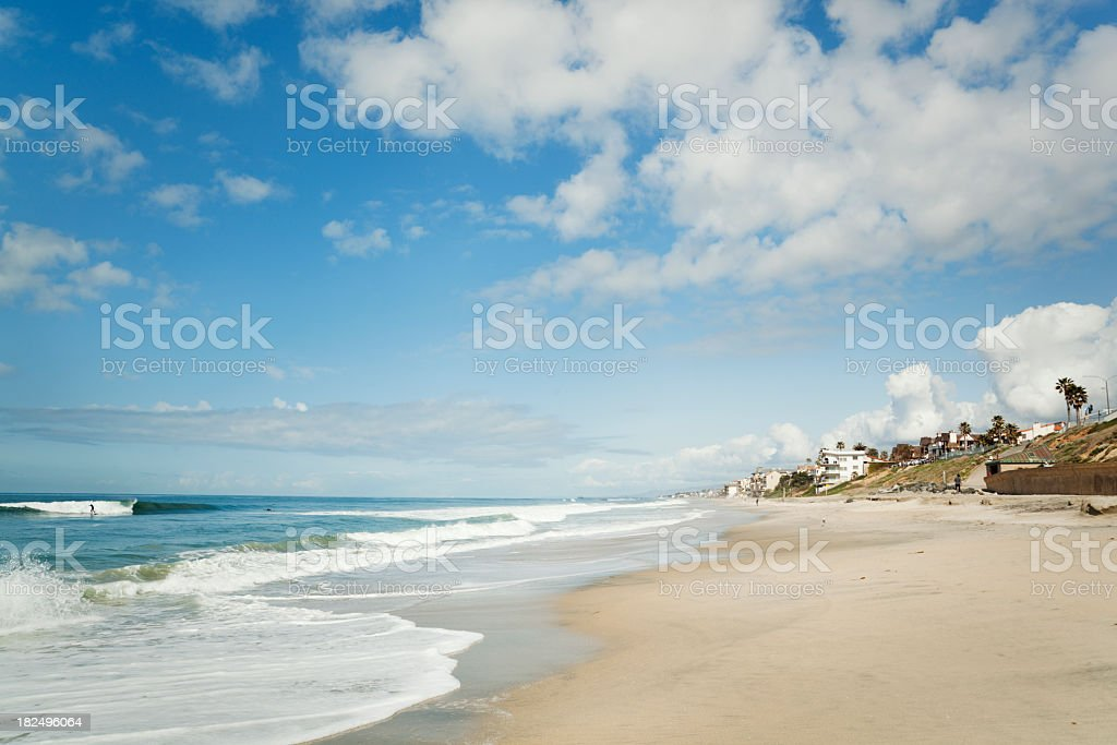 Beach at Carlsbad, San Diego, California—Coastline for Tourist Vacations stock photo
