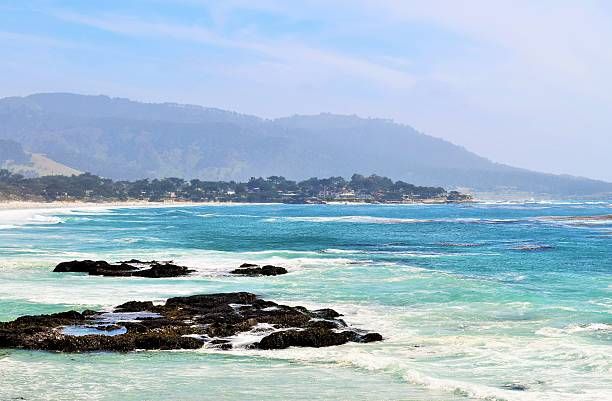 Beach at Carmel by the Sea stock photo