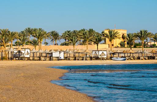 Beach at Coraya Bay, Egypt