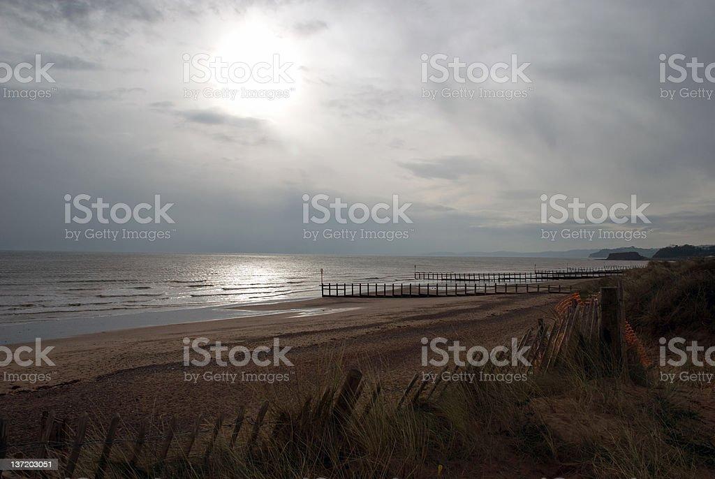 Beach at Dawlish Warren stock photo