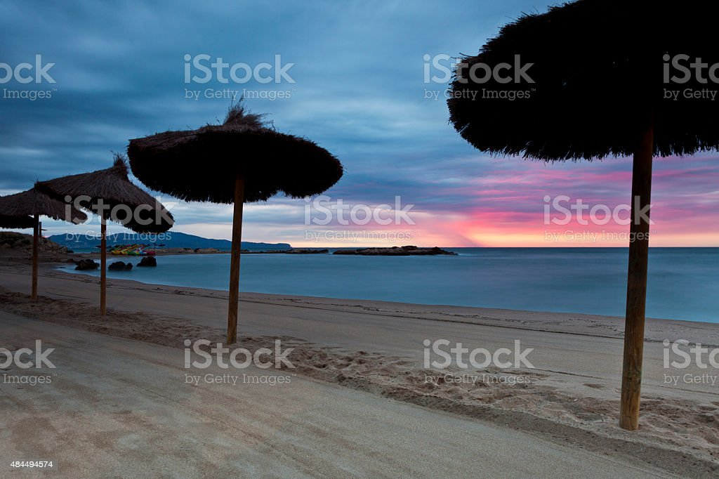 Beach at Dawn stock photo