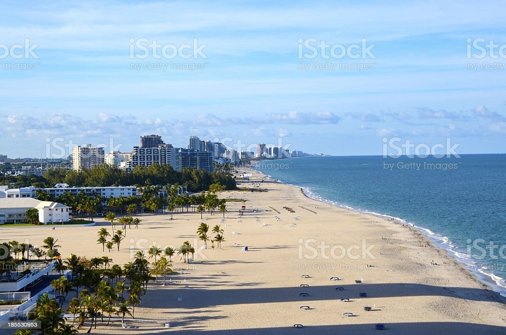 Beach at Fort Lauderdale Florida stock photo