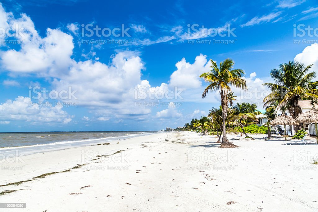 beach at Fort Myers in america stock photo