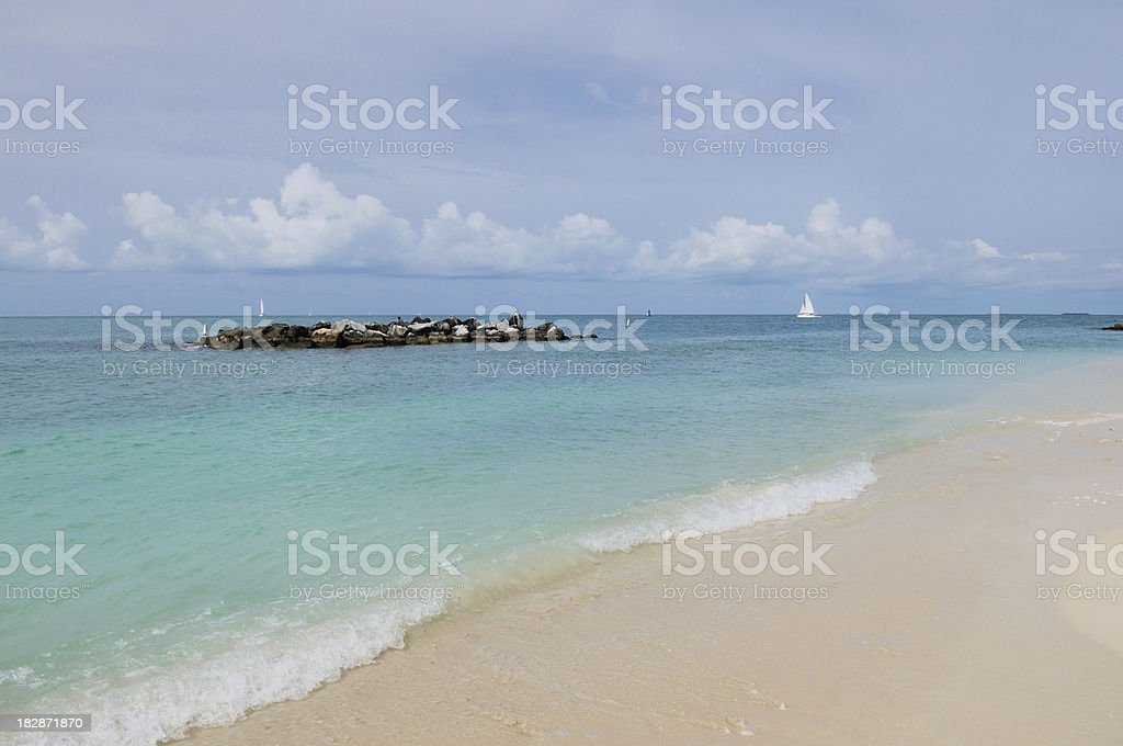 Beach at Fort Zachary Taylor State Park Key West Florida stock photo