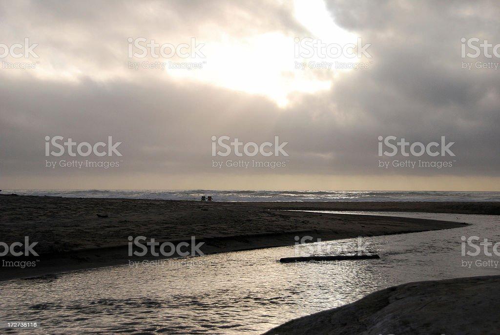 Beach at Half Moon Bay, California stock photo