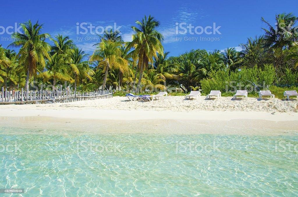 Beach at Isla Mujeres stock photo