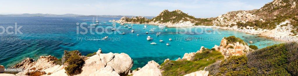 Beach at Isola Spargi Sardinia stock photo