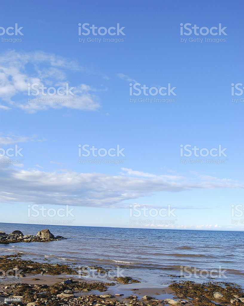 Beach at low tide royalty-free stock photo