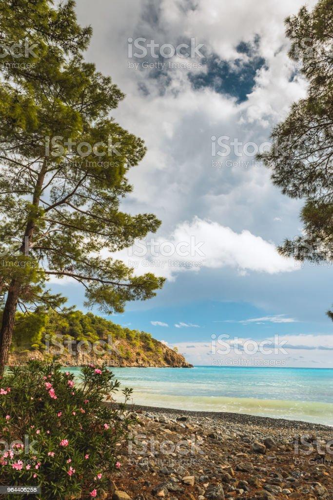 Beach at Mediterranean sea. Antalya, Turkey - Royalty-free Antalya City Stock Photo
