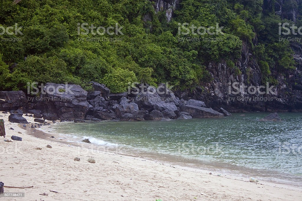 Beach at Monkey Island stock photo