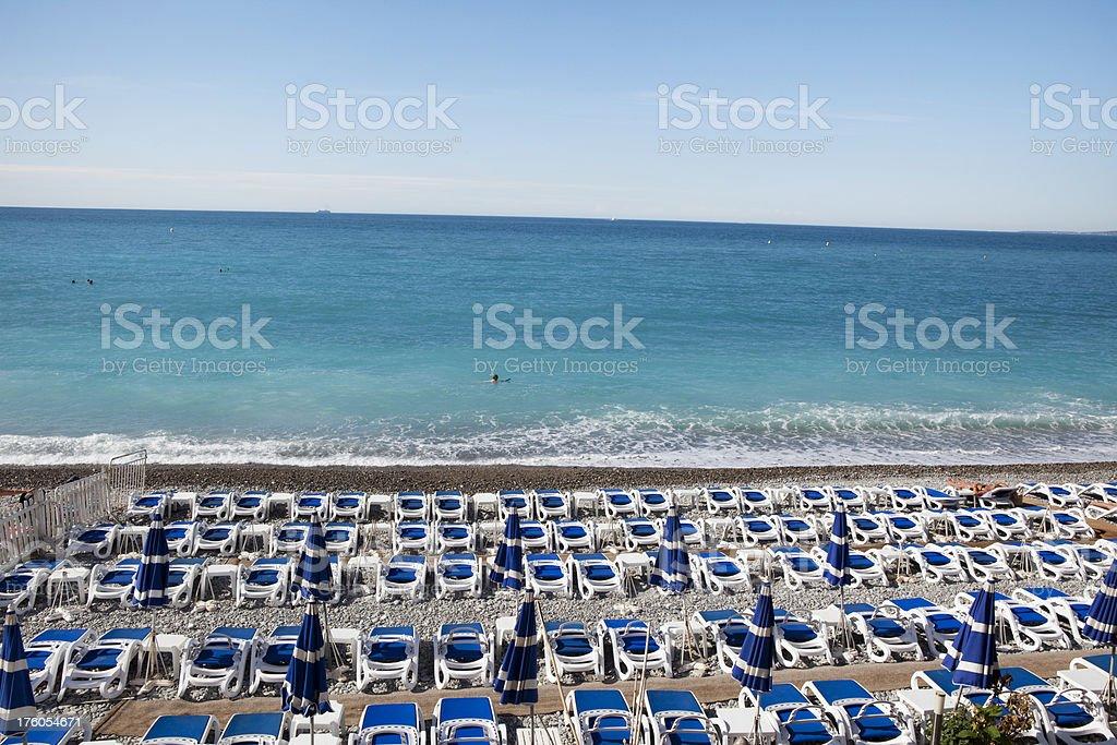Beach at Nice France royalty-free stock photo
