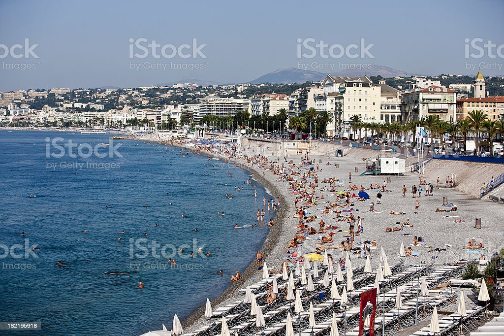 beach at Nice royalty-free stock photo