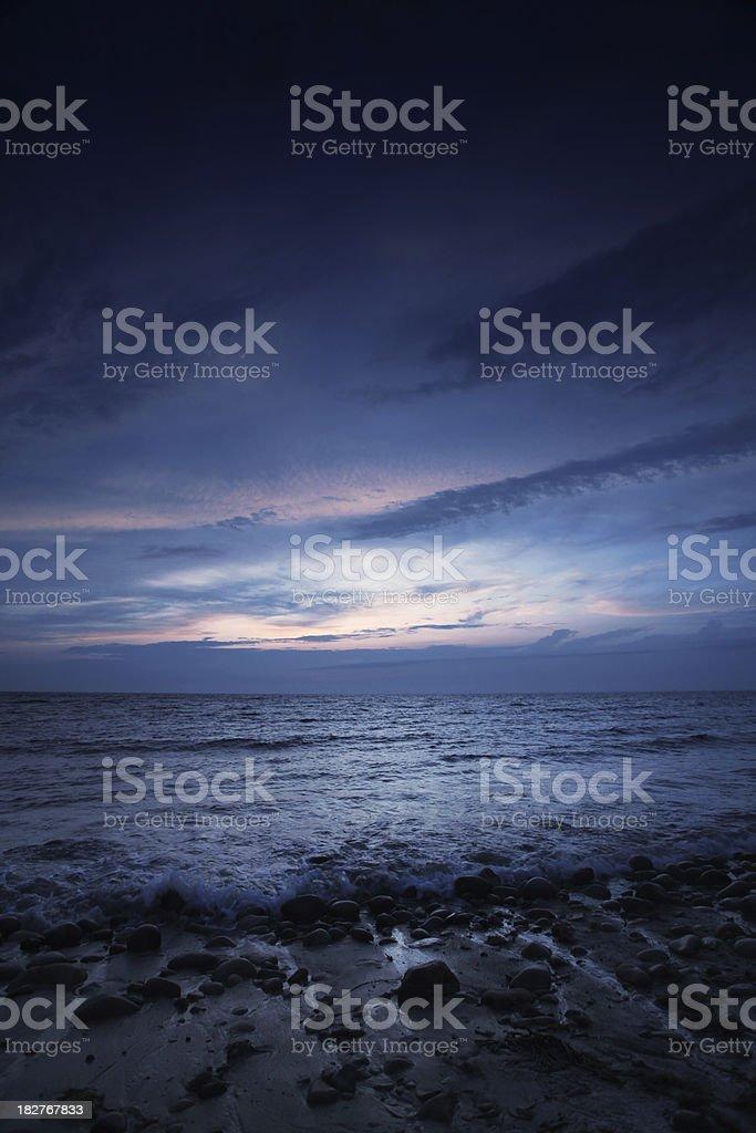 Beach at night royalty-free stock photo