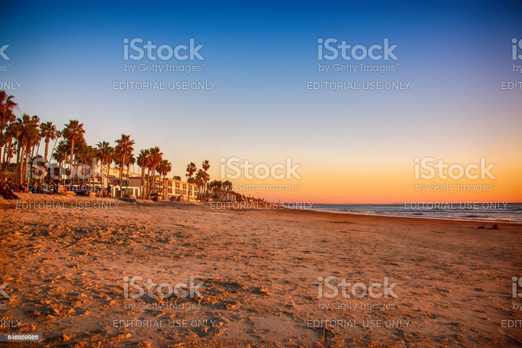 Beach at Oceanside California stock photo