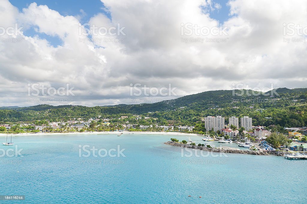 Beach at Ocho Rios Jamaica stock photo