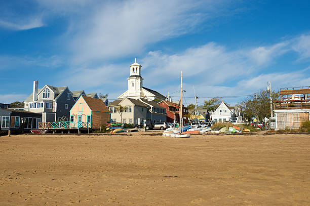 Beach at Provincetown, Cape Cod, Massachusetts Beach at Provincetown, Cape Cod, Massachusetts, USA. provincetown stock pictures, royalty-free photos & images