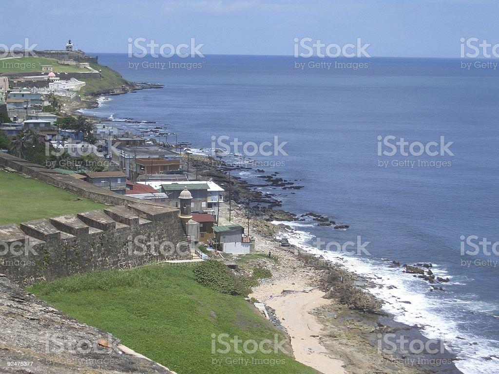 Beach at San Cristobal royalty-free stock photo
