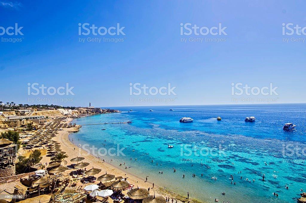 Beach at Sharm el Sheikh stock photo