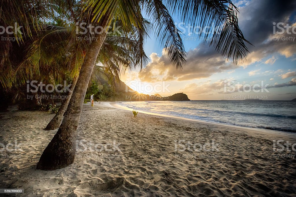 Beach at Sunset stock photo