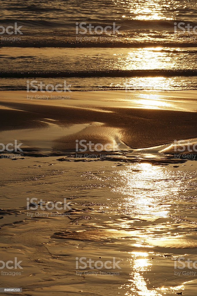 Beach at Sunset royalty-free stock photo