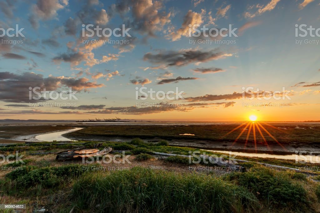 beach at sunset - Royalty-free BC Stock Photo