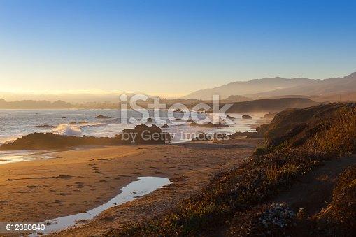 beach at sunset, San Simeon, California, United States of America