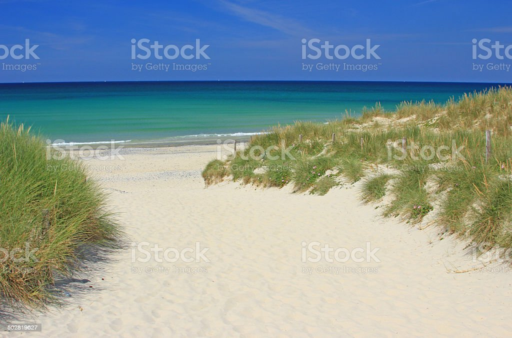 Beach at the Atlantic Ocean stock photo