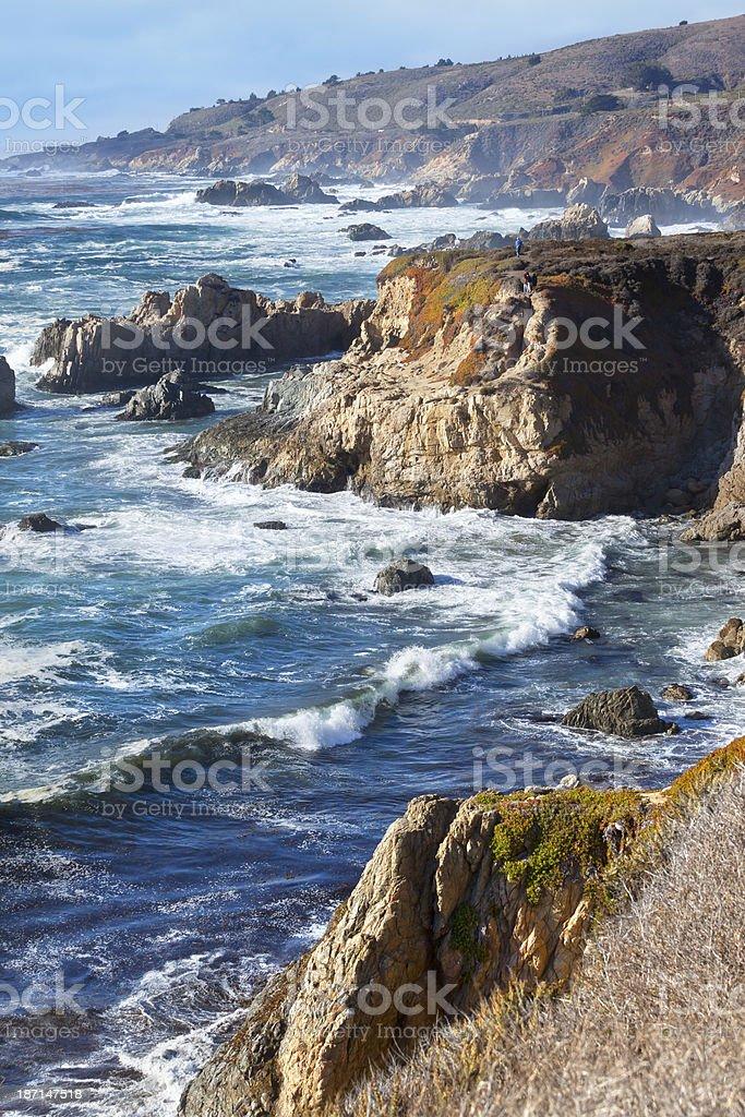 Beach at the coast of California near highway 1 royalty-free stock photo