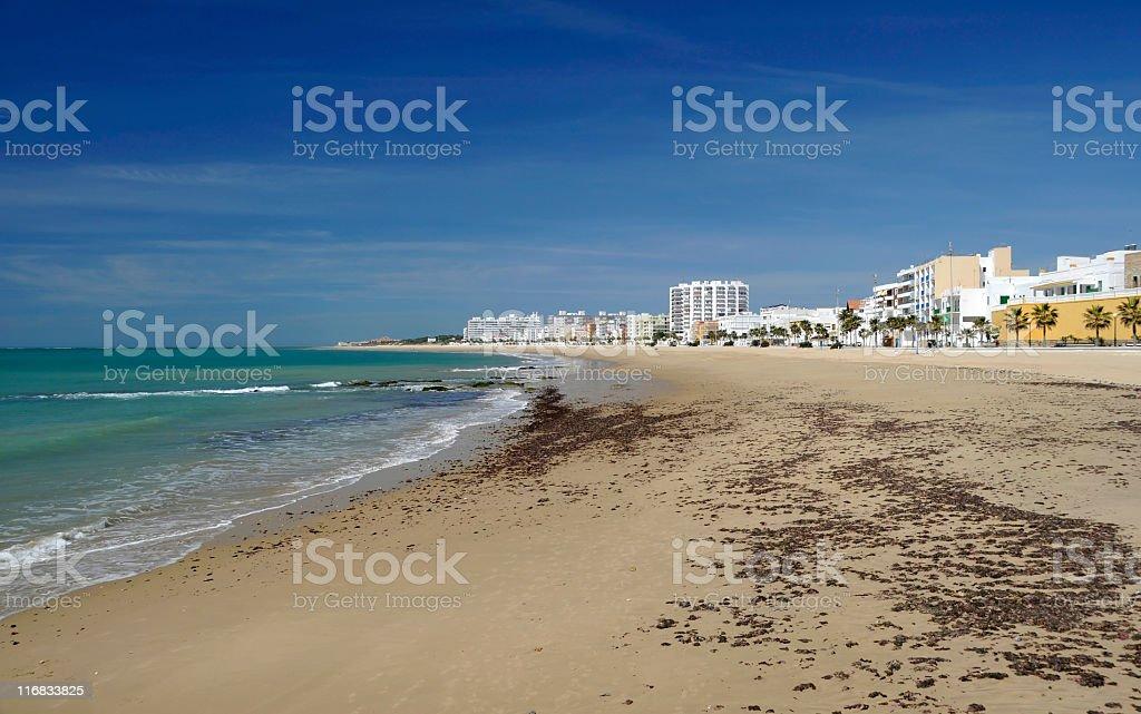 Beach at the Costa de la Luz stock photo