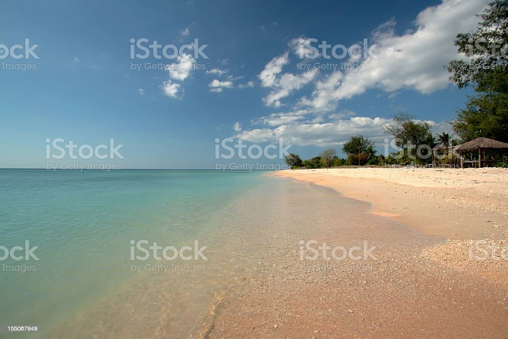 Beach at the Gili Islands stock photo