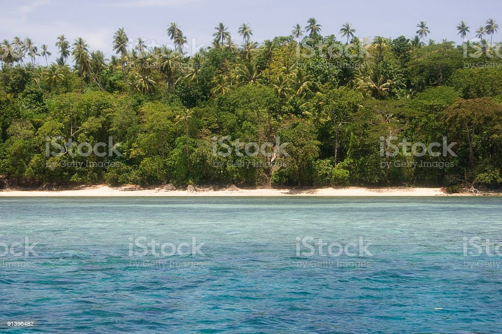 Beach at the northern side of Bunaken Island, Sulawesi, Indonesia royalty-free stock photo