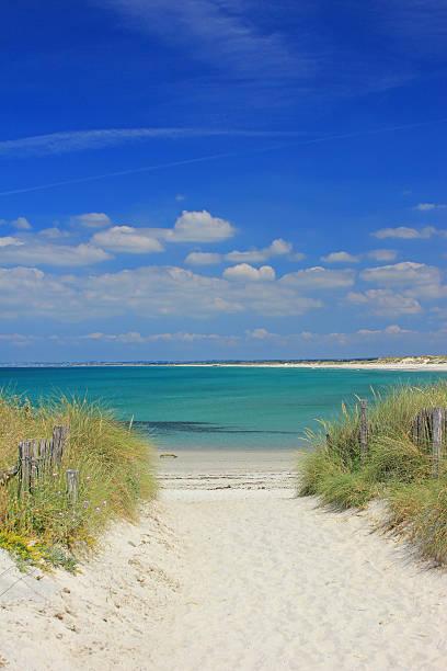 Strand in Tronoen, Bretagne, Frankreich – Foto