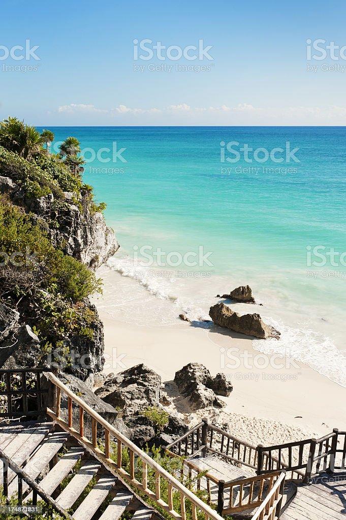 Beach at Tulum royalty-free stock photo