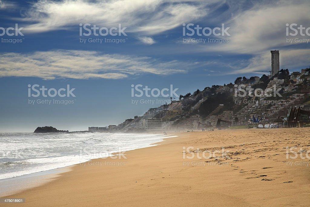 beach at Vina del Mar, Chile stock photo