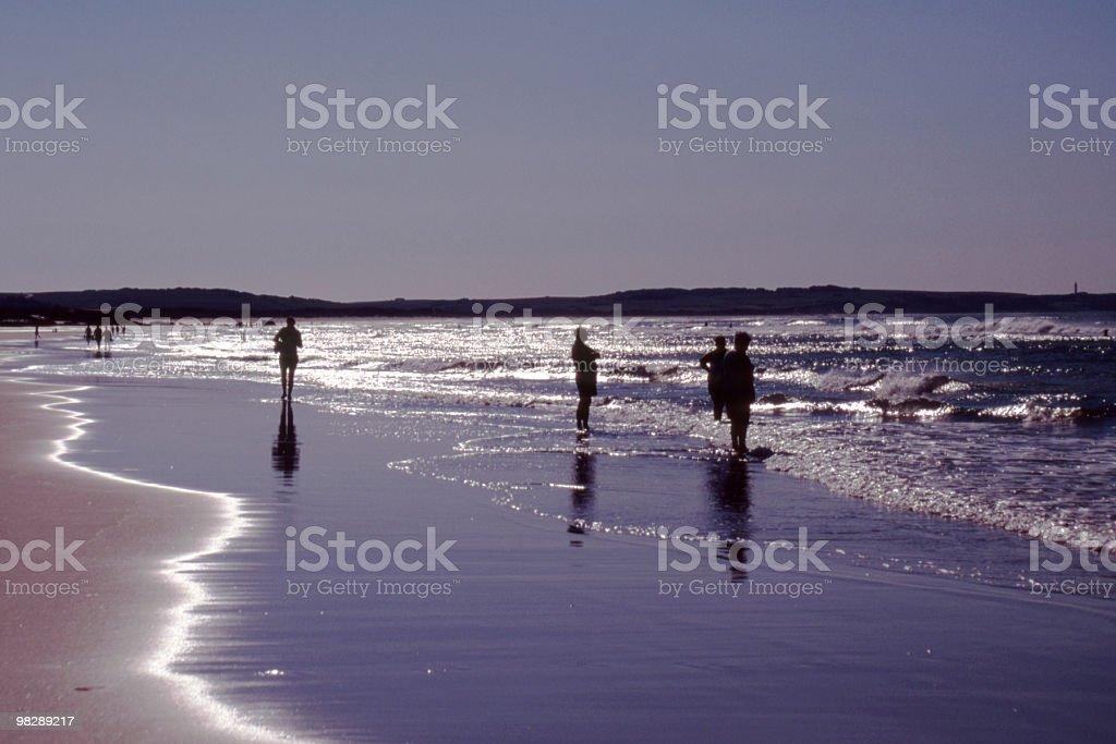 Spiaggia di Wissant, Passo di Calais, Francia foto stock royalty-free