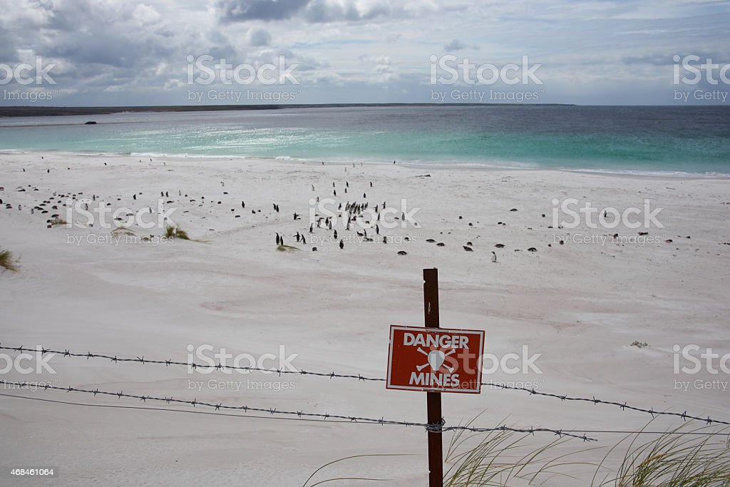Beach at Yorke Bay stock photo