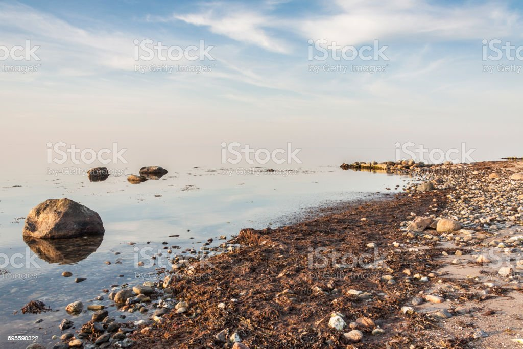 Beach - Augustenhof, Denmark. stock photo